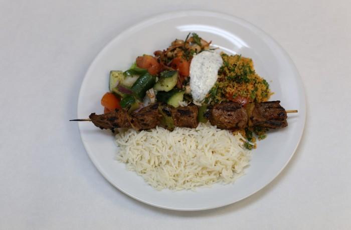 Lamb Kebab Dinner